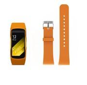 REBL Siliconen polsbandje voor de Samsung Gear Fit 2 SM-R360 met gespsluiting  - Oranje