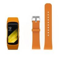 Siliconen polsbandje voor de Samsung Gear Fit 2 SM-R360 met gespsluiting  - Oranje