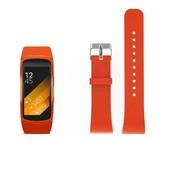 REBL Siliconen polsbandje voor de Samsung Gear Fit 2 SM-R360 met gespsluiting  - Oranje / Rood