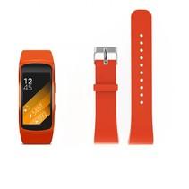Siliconen polsbandje voor de Samsung Gear Fit 2 SM-R360 met gespsluiting  - Oranje / Rood