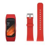 Siliconen polsbandje voor de Samsung Gear Fit 2 SM-R360 met gespsluiting  - Rood