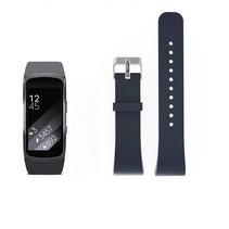 Siliconen polsbandje voor de Samsung Gear Fit 2 SM-R360 met gespsluiting  - Steengrijs