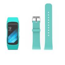 Siliconen polsbandje voor de Samsung Gear Fit 2 SM-R360 met gespsluiting  - Turquoise
