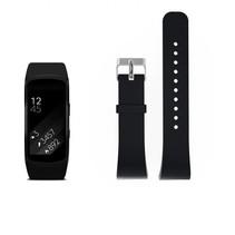 Siliconen polsbandje voor de Samsung Gear Fit 2 SM-R360 met gespsluiting  - Zwart