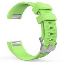 Siliconen polsbandje voor de Fitbit Charge 2 Maat L - Groen