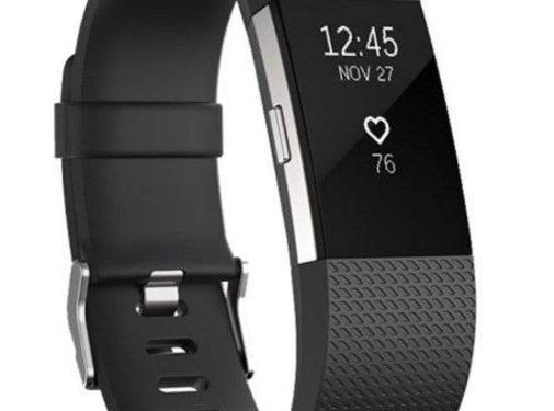 REBL Siliconen polsbandje voor de Fitbit Charge 2 - Zwart