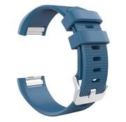 REBL Siliconen polsbandje voor de Fitbit Charge 2 - Blauw / Grijs