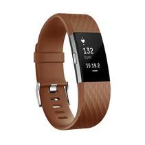 Siliconen polsbandje voor de Fitbit Charge 2 - Bruin / Koffie