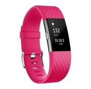 REBL Siliconen polsbandje voor de Fitbit Charge 2 - Roze
