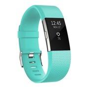 REBL Siliconen polsbandje voor de Fitbit Charge 2 - Turquoise / Mint