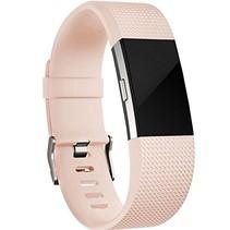 Siliconen polsbandje voor de Fitbit Charge 2 - Zalmroze