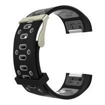 Siliconen Sport polsbandje voor de Fitbit Charge 2  Maat S - Zwart/Grijs