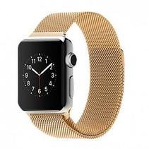 Milanese horloge bandje met magneetsluiting voor de Apple Watch - Goud