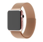 REBL Milanese horloge bandje met magneetsluiting voor de Apple Watch - Rose Goud