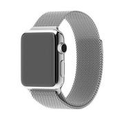 REBL Milanese horloge bandje met magneetsluiting voor de Apple Watch - Zilverkleurig