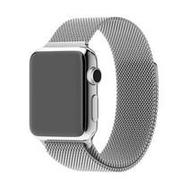 Milanese horloge bandje met magneetsluiting voor de Apple Watch - Zilverkleurig