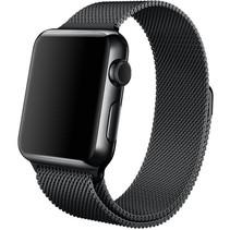 Milanese horloge bandje met magneetsluiting voor de Apple Watch - Zwart