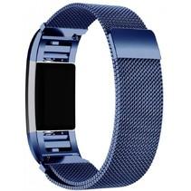 Fitbit Charge 2 Milanese Horloge Bandje met magneetsluiting - Maat M - Blauw