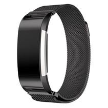 Fitbit Charge 2 Milanese Horloge Bandje met magneetsluiting - Zwart