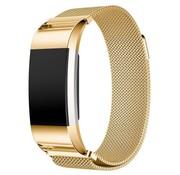 REBL Fitbit Charge 2 Milanese Horloge Bandje met magneetsluiting - Goud