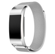 REBL Fitbit Charge 2 Milanese Horloge Bandje met magneetsluiting – Zilver