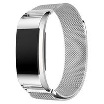 Fitbit Charge 2 Milanese Horloge Bandje met magneetsluiting – Zilver