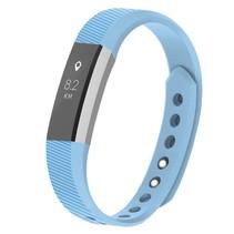 Siliconen polsbandje voor de Fitbit Alta / Alta HR - Baby Blauw