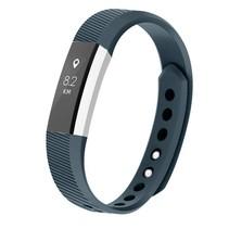 Siliconen polsbandje voor de Fitbit Alta / Alta HR - Blauwgrijs
