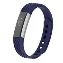 Siliconen polsbandje voor de Fitbit Alta / Alta HR - Donkerblauw