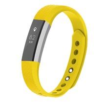 Siliconen polsbandje voor de Fitbit Alta / Alta HR - Geel