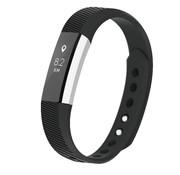 REBL Siliconen polsbandje voor de Fitbit Alta / Alta HR - Zwart
