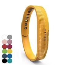 Siliconen sportbandjes voor de Fitbit Flex 2 met druksluiting - Geel