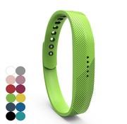 REBL Siliconen sportbandjes voor de Fitbit Flex 2 met druksluiting - Groen