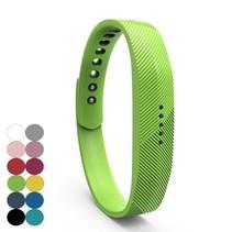Siliconen sportbandjes voor de Fitbit Flex 2 met druksluiting - Groen