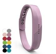 REBL Siliconen sportbandjes voor de Fitbit Flex 2 met druksluiting - Lila Paars