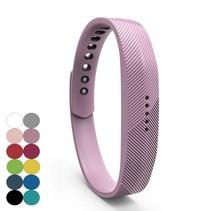 Siliconen sportbandjes voor de Fitbit Flex 2 met druksluiting - Lila Paars