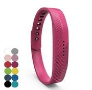 REBL Siliconen sportbandjes voor de Fitbit Flex 2 met druksluiting - Roze