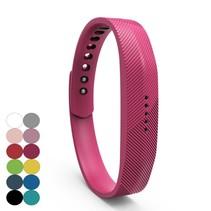Siliconen sportbandjes voor de Fitbit Flex 2 met druksluiting - Roze
