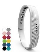 REBL Siliconen sportbandjes voor de Fitbit Flex 2 met druksluiting - Wit