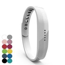 Siliconen sportbandjes voor de Fitbit Flex 2 met druksluiting - Wit
