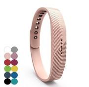 REBL Siliconen sportbandjes voor de Fitbit Flex 2 met druksluiting - Zalmroze