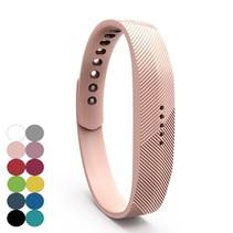 Siliconen sportbandjes voor de Fitbit Flex 2 met druksluiting - Zalmroze