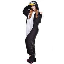 Zwarte Pinguin Onesie voor volwassenen - Zwarte Pinguin Kigurumi Pyjama