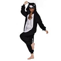 Zwarte Kat Onesie voor volwassenen - Zwarte Kat Kigurumi Pyjama