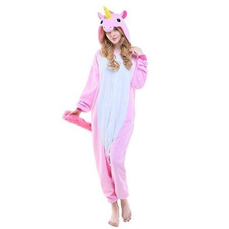 REBL Roze Unicorn Onesie voor volwassenen - Roze Unicorn Kigurumi Pyjama