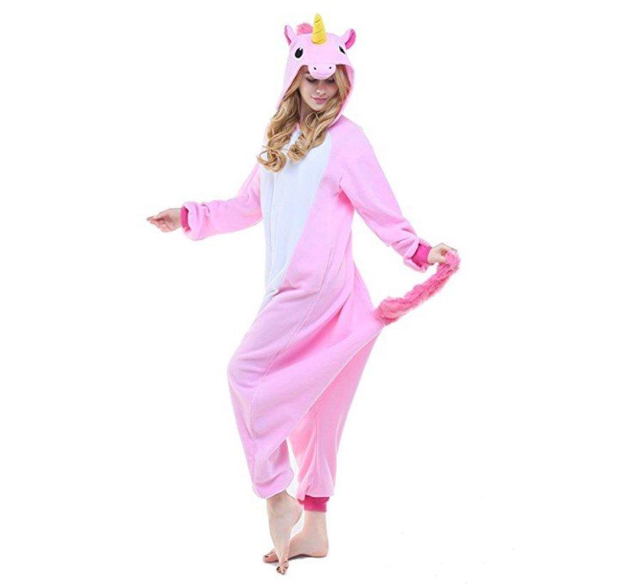 Roze Unicorn Onesie voor volwassenen - Roze Unicorn Kigurumi Pyjama
