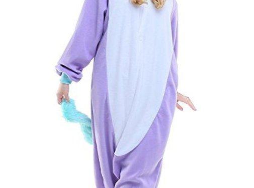 REBL Paarse Unicorn Onesie voor volwassenen - Paarse Unicorn Kigurumi Pyjama