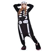 REBL Skelet Onesie voor volwassenen - Skelet Kigurumi Pyjama