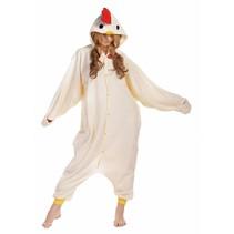 Witte Kip Onesie voor volwassenen - Kip Kigurumi Pyjama