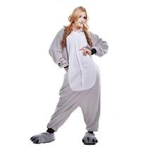 Grijze Koala Beer Onesie voor volwassenen - Grijze Koala Beer Kigurumi Pyjama